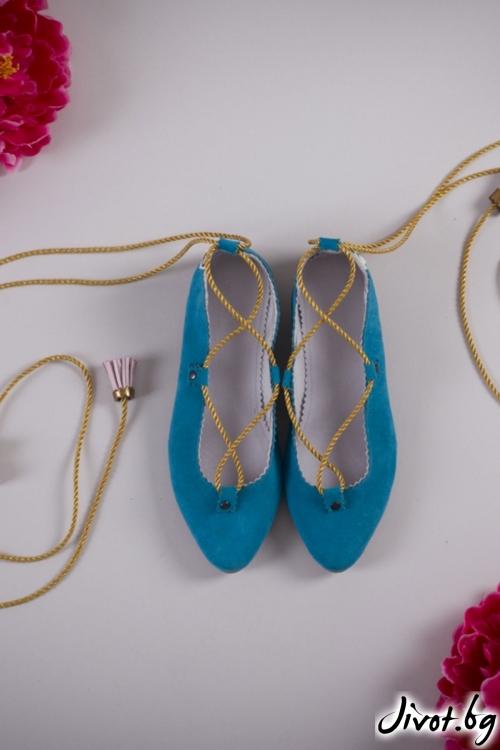 Велурени обувки Egypt Dream / PESH ART