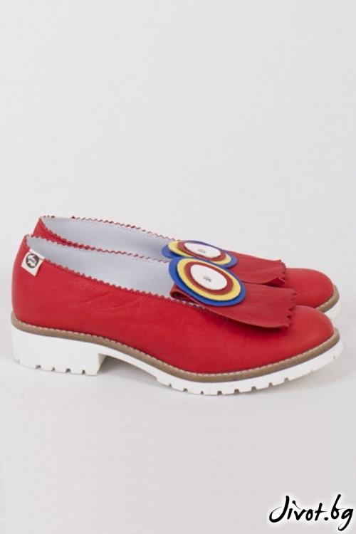 Кожени дамски обувки Lollipop / PESH ART