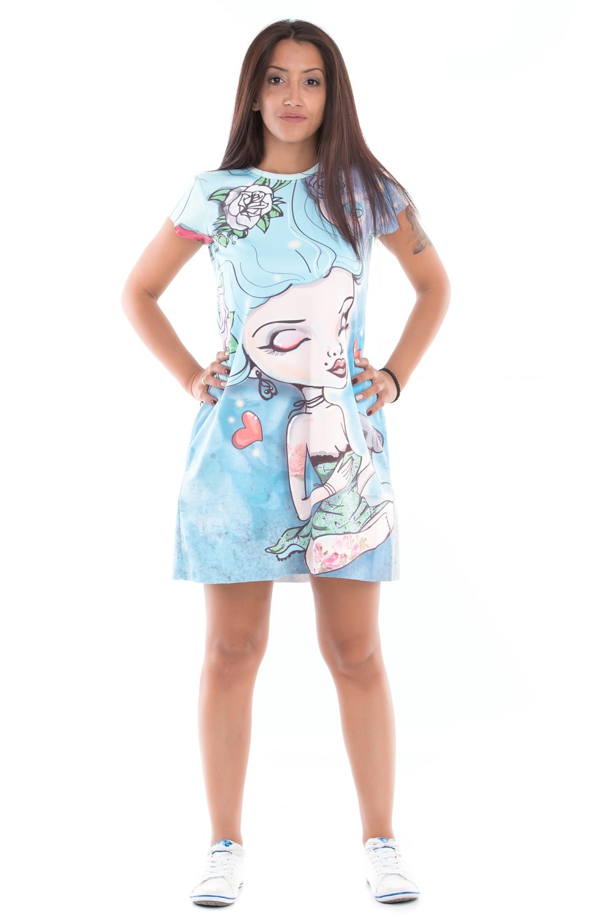 """Красива рокля с къс ръкав """"Маймунка"""" / MyMagenta"""
