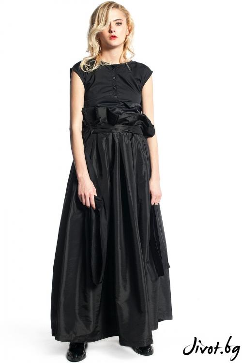 Уникална черна дамска пола / Maria Queen Maria