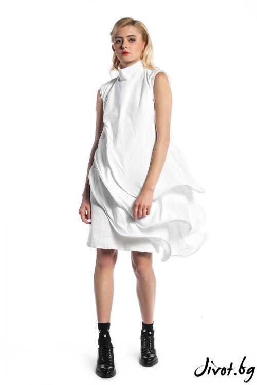 Бяла дамска рокля / Maria Queen Maria
