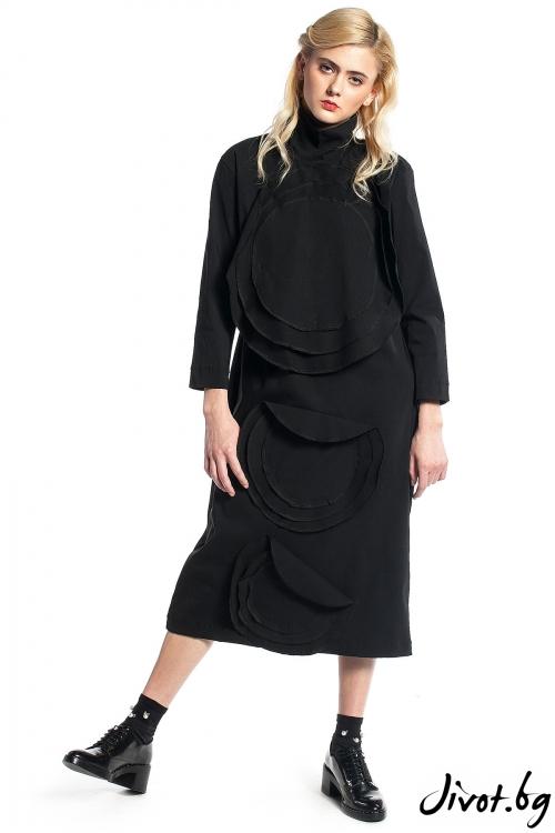 Черна дамска рокля до коляното / Maria Queen Maria