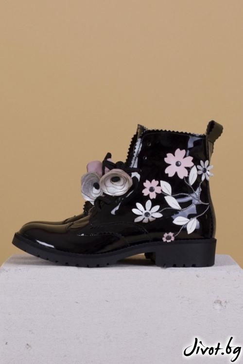 Дамски ръчно декорирани кожени обувки Eden / PESH ART