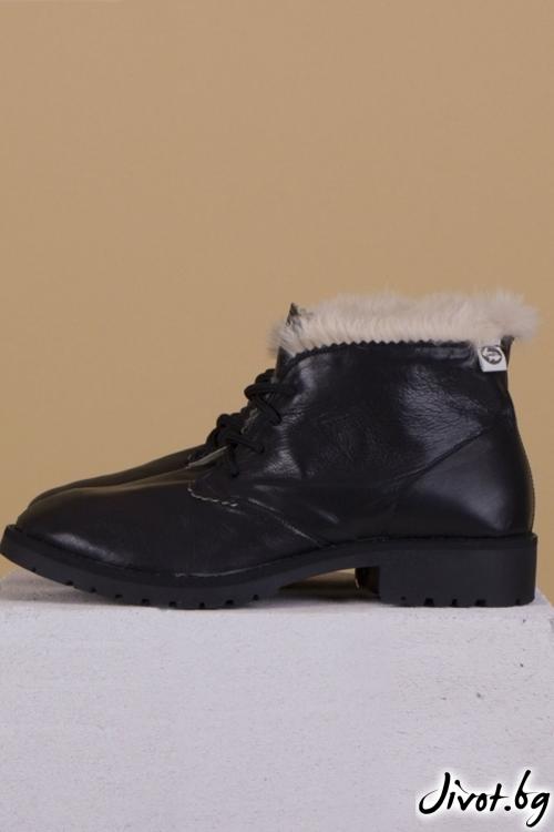 Дамски ръчно декорирани кожени обувки Furry Clark / PESH ART
