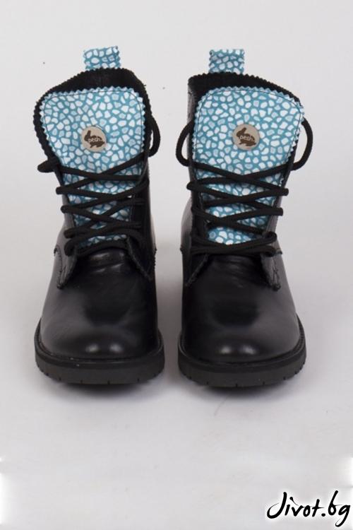 Дамски ръчно декорирани кожени обувки Cycling / PESH ART