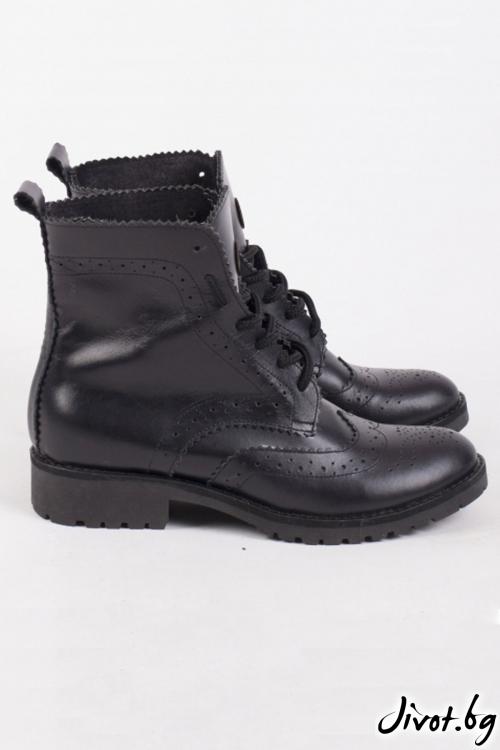 Дамски ръчно декорирани кожени обувки Huntsman Boots / PESH ART