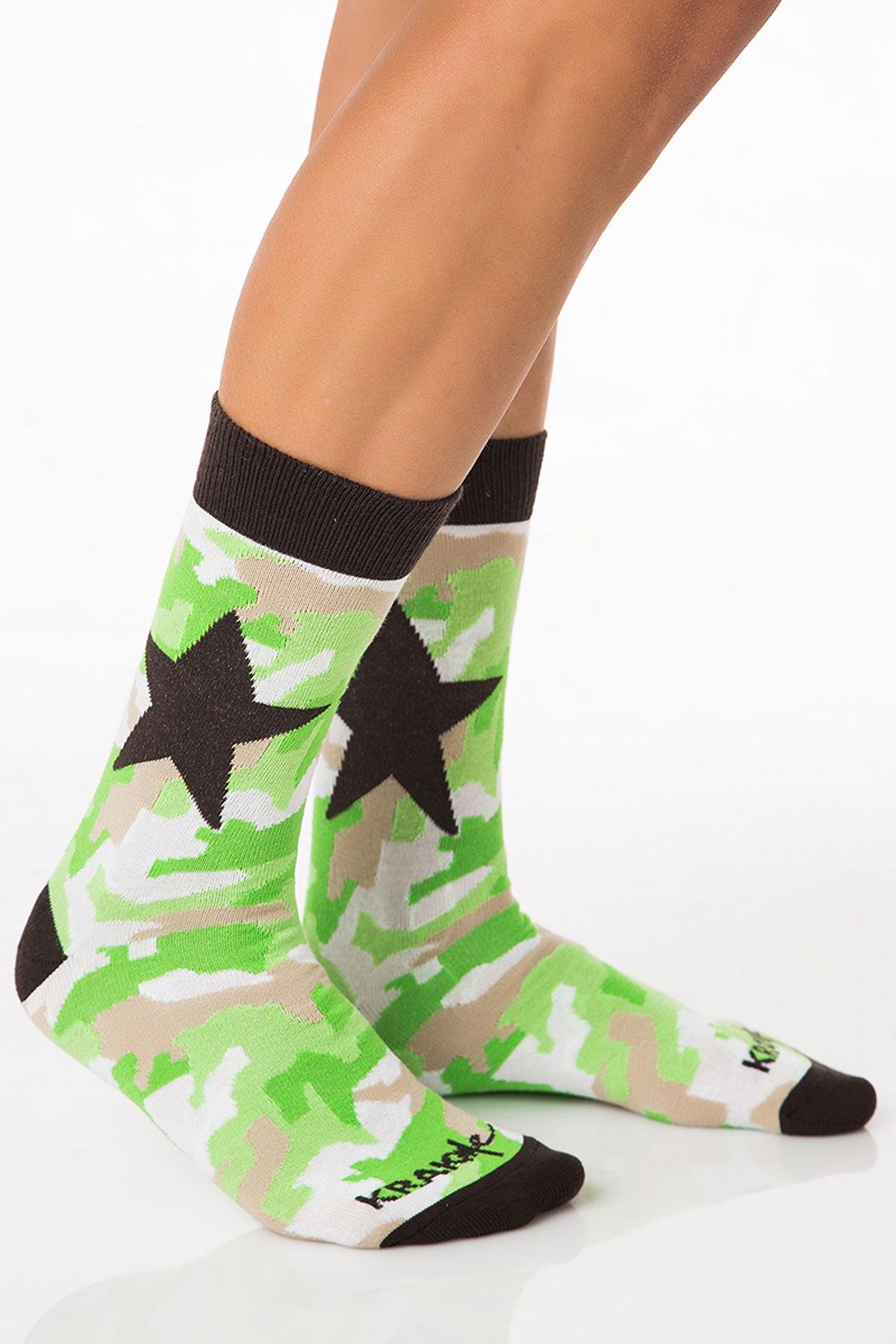 Мъжки чорапи Military Star Green / Krak me