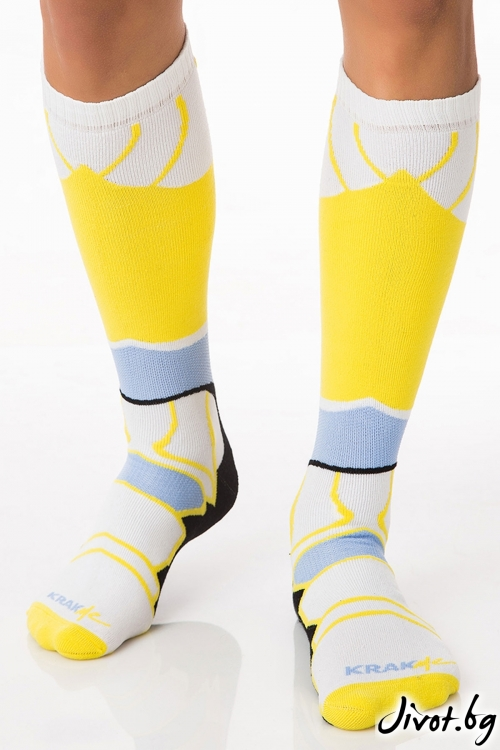 Мъжки дълги чорапи Havana Futuristic Blue / Krak me