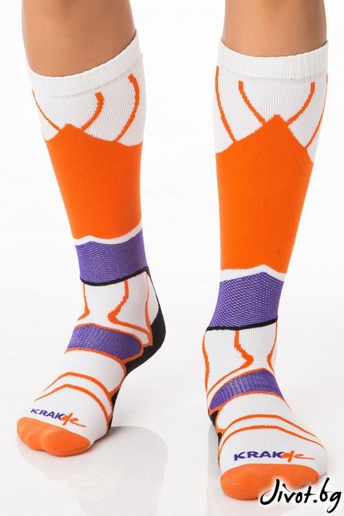 Мъжки дълги чорапи Havana Futuristic Purple / Krak me