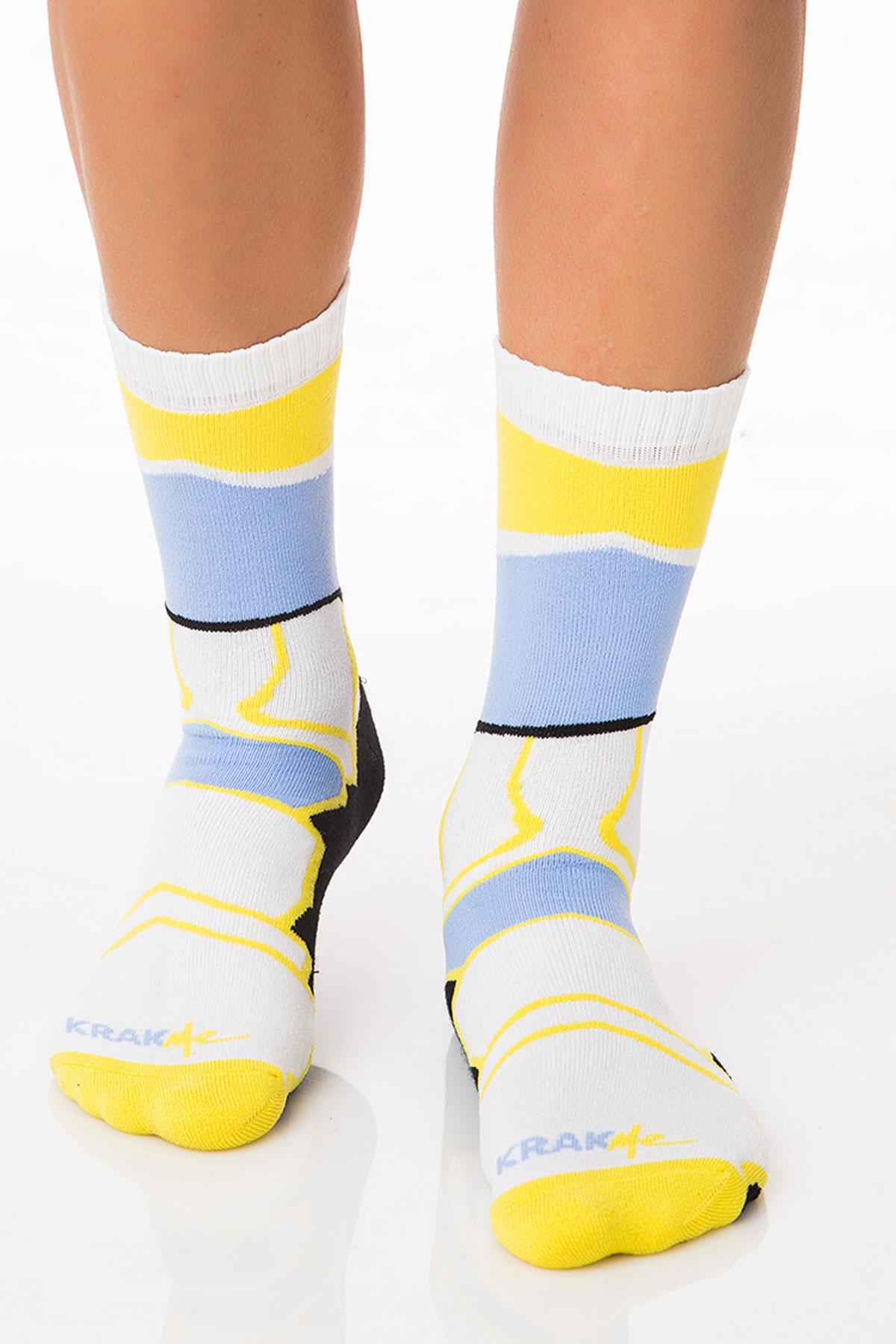 Мъжки къси чорапи Havana Futuristic Blue / Krak me