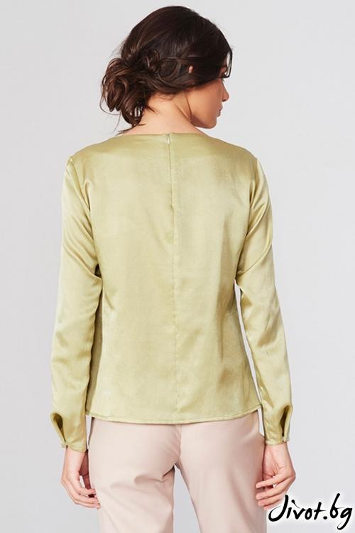 Уникална риза в маслиново зелено / Lila Style House