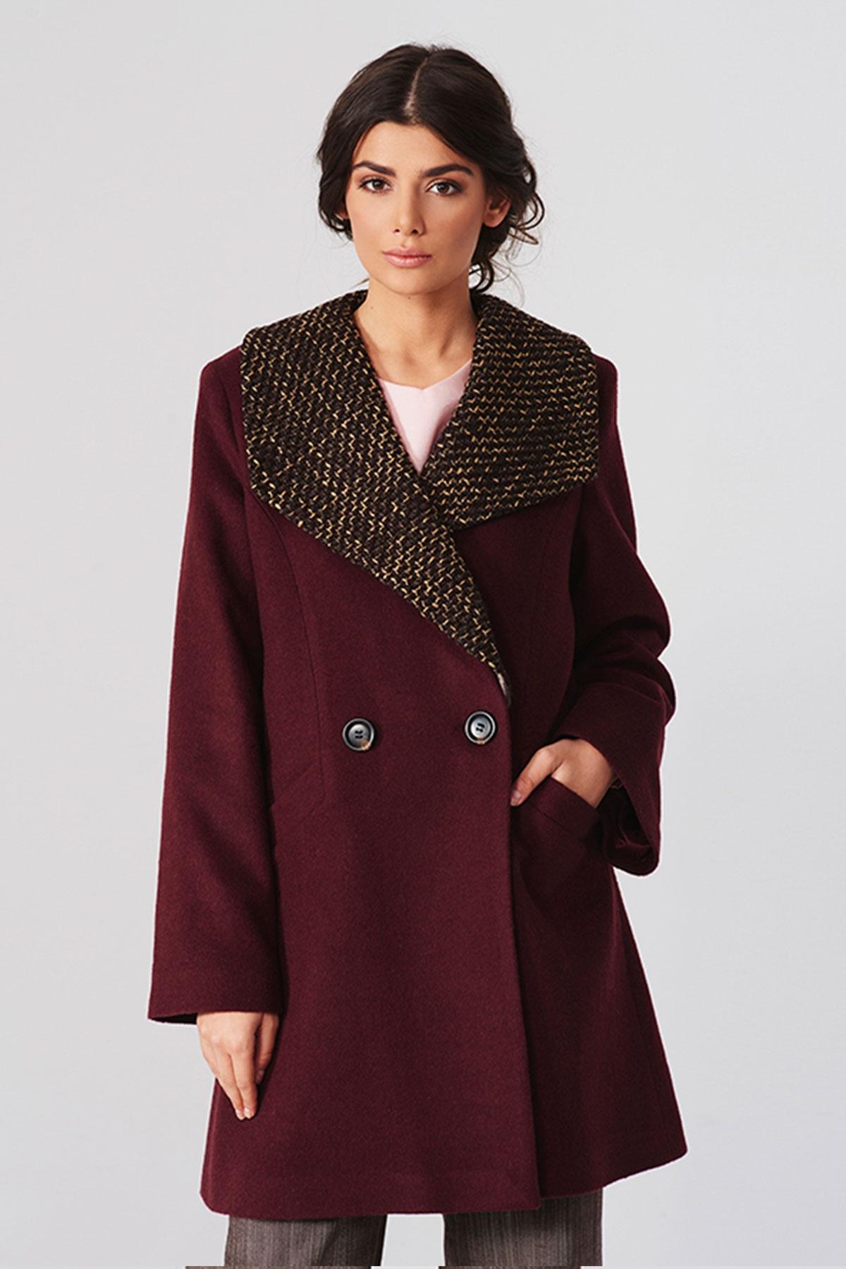 Двуредно палто в бордо / Lila Style House