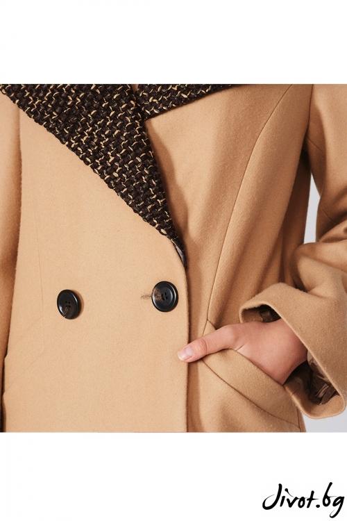 Двуредно палто в камел / Lila Style House