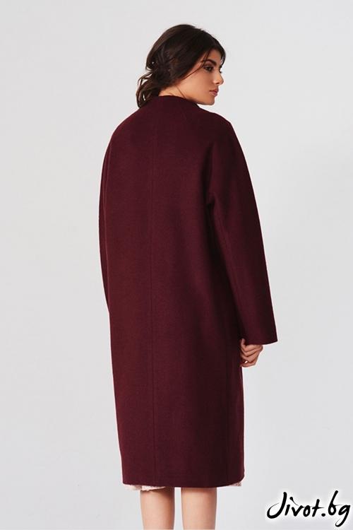 Дълго палто в бордо / Lila Style House