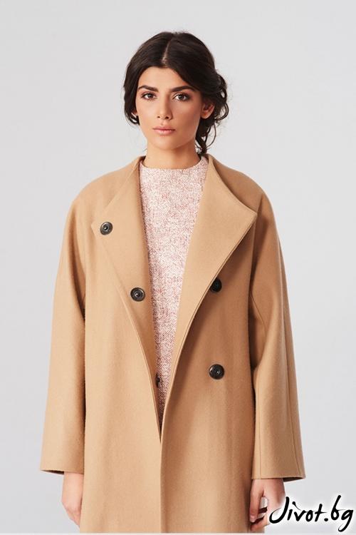 Дълго палто в камел / Lila Style House