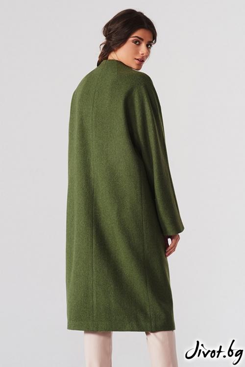 Дълго зелено палто / Lila Style House