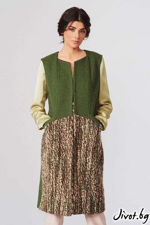 Зелен вълнен елек / Lila Style House