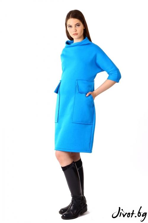 Шикозна рокля от ватирано трико / VЯRA за MUSE SHOP