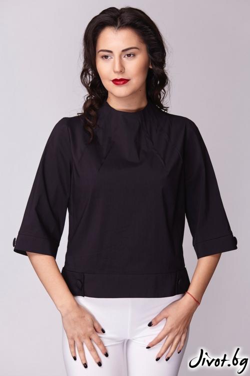 Черна дамска риза