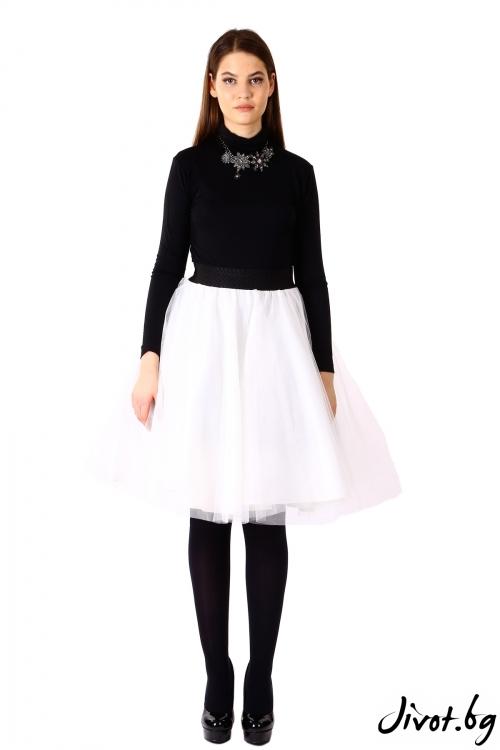 Уникална бяла пола от тюл / VЯRA за MUSE SHOP