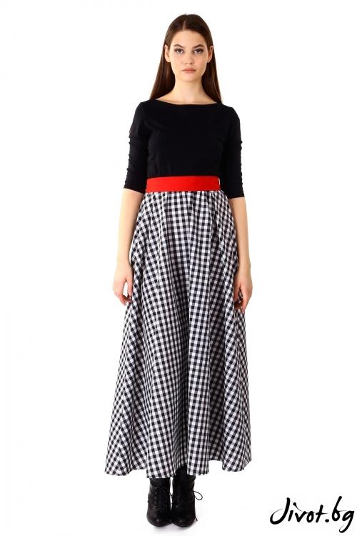 Красива дълга цветна рокля / VЯRA за MUSE SHOP