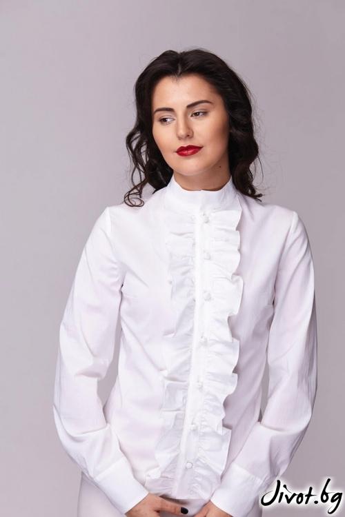 Уникална вталена риза / Модна къща АМБИЦИЯ