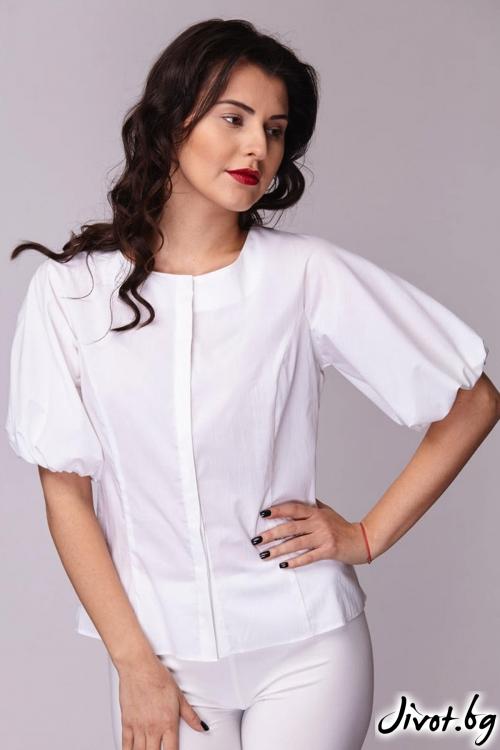 Семпла бяла риза / Модна къща АМБИЦИЯ
