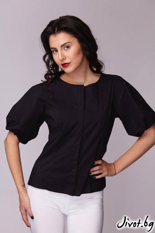 Семпла черна риза / Модна къща АМБИЦИЯ