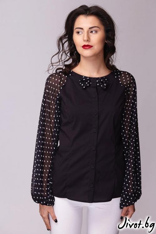 Закачлива риза с Папийонка / Модна къща АМБИЦИЯ