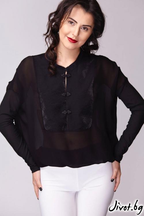 Разкошна черна риза / Модна къща АМБИЦИЯ