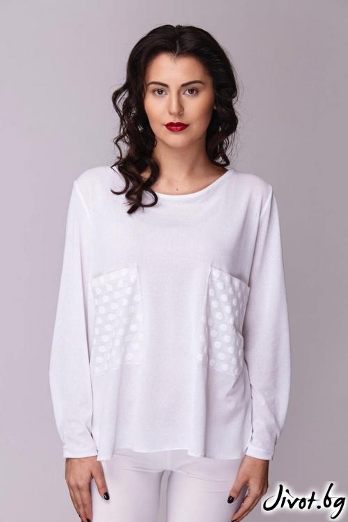 Разкошна бяла риза / Модна къща АМБИЦИЯ