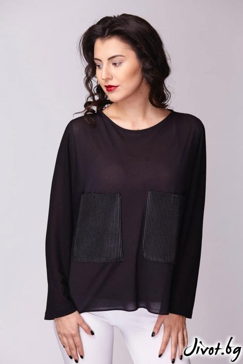 Свободна черна риза / Модна къща АМБИЦИЯ