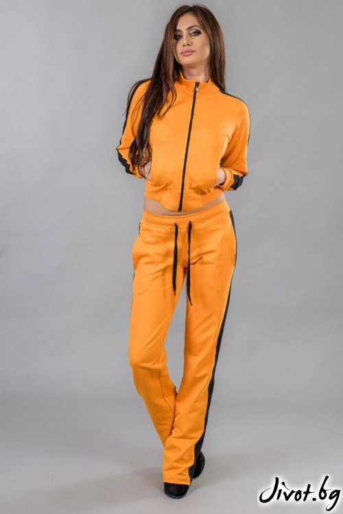 Дамски оранжев спортен комплект / BAZA