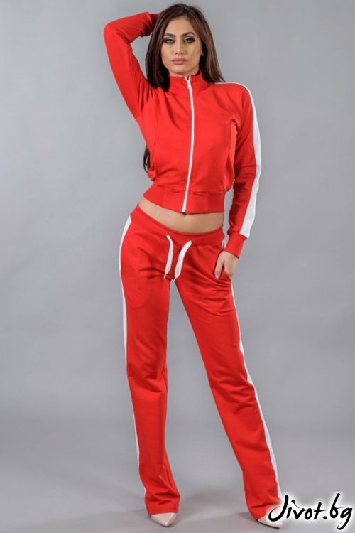 Дамски червен спортен комплект / BAZA