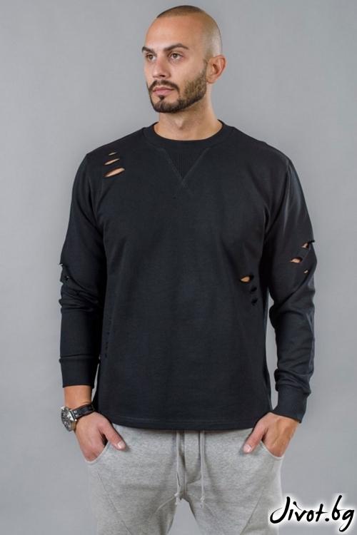 Черна мъжка блуза BM516 / BAZA
