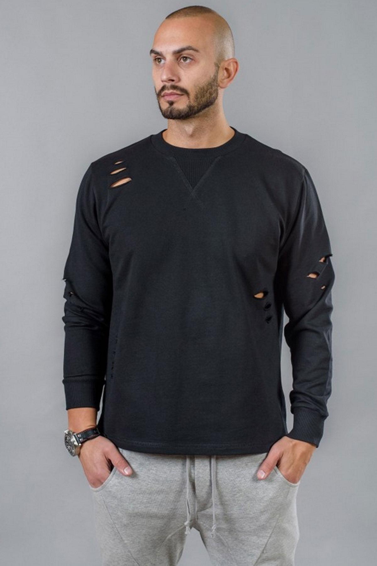 Черна мъжка блуза / BAZA