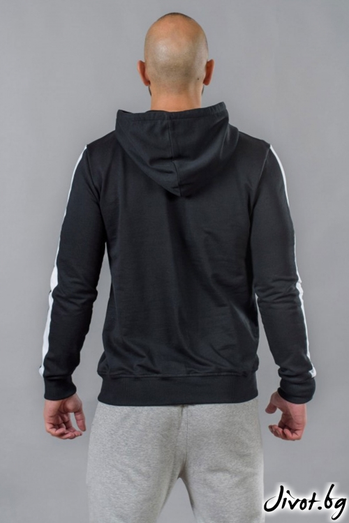 Черен мъжки суичър с качулка / BAZA