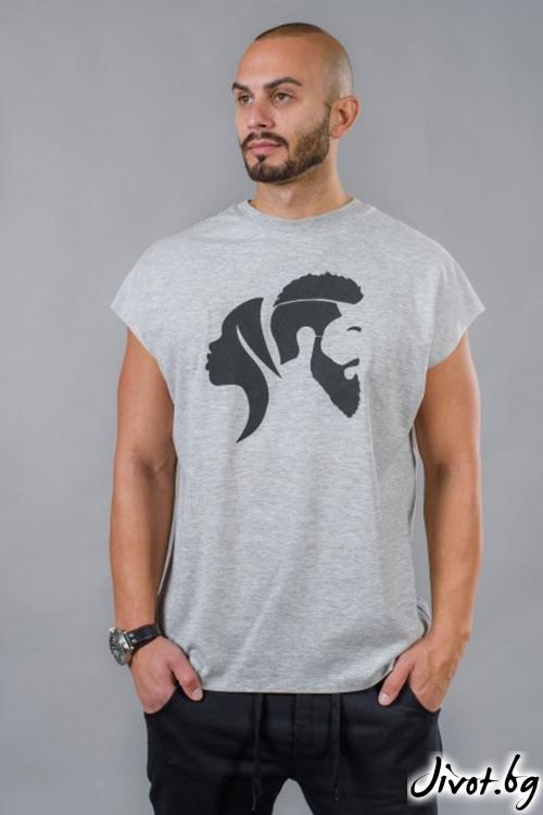 Сива мъжкa тениска BM517 / BAZA