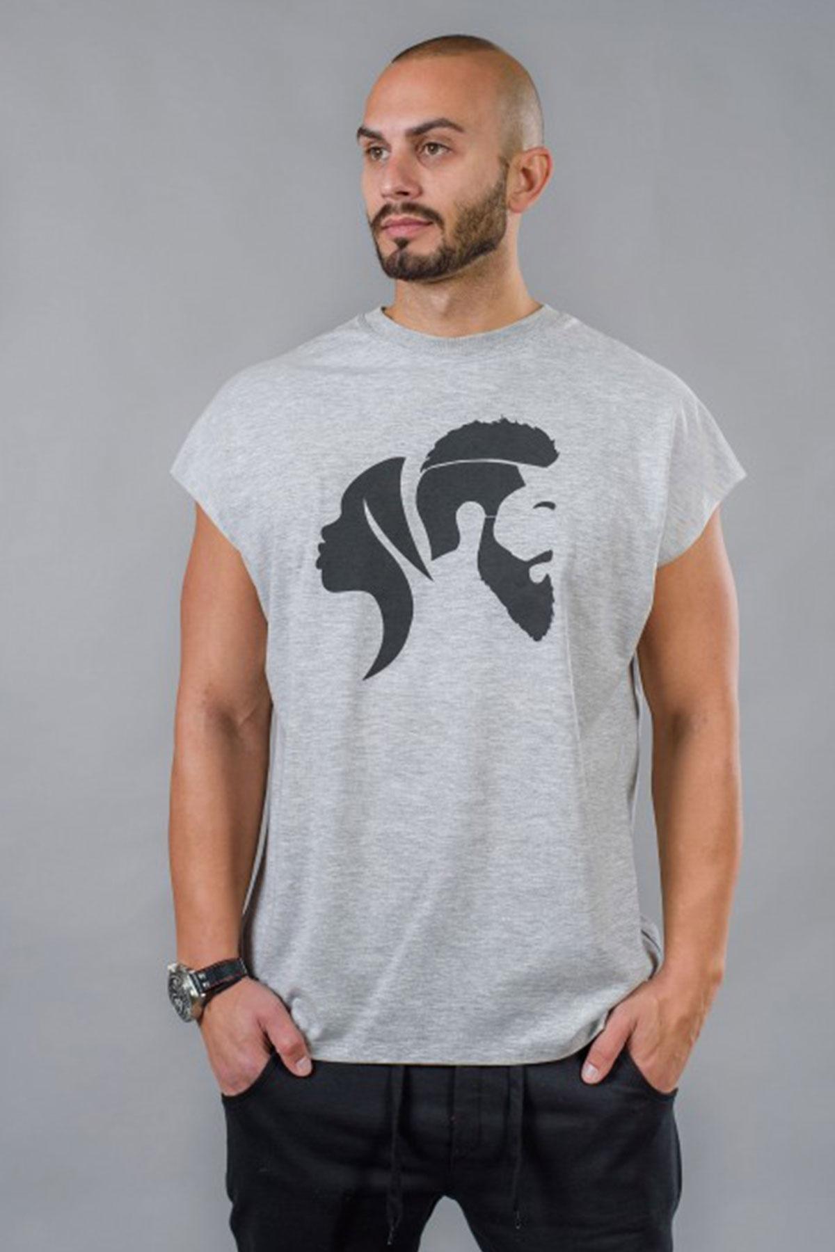 Сива мъжкa тениска / BAZA