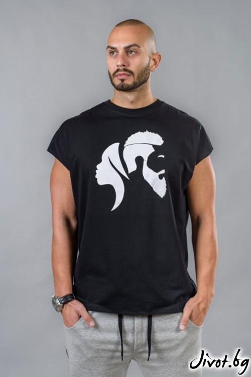 Черна мъжкa тениска BM513 / BAZA