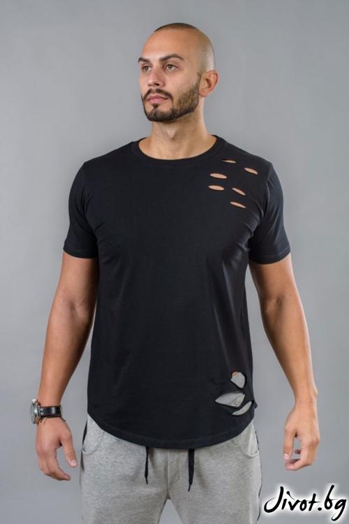 Накъсана мъжка тениска / BAZA