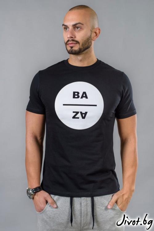 Черна мъжка тениска / BAZA