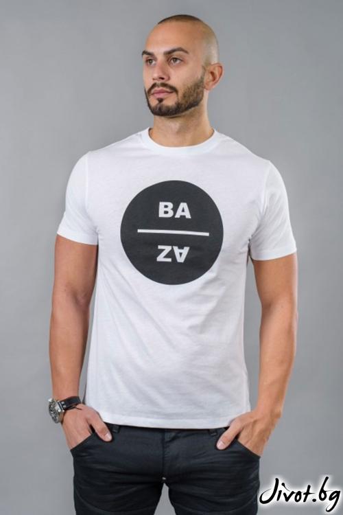 Бяла мъжка тениска / BAZA