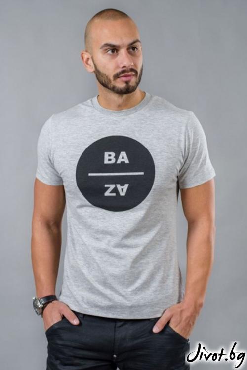 Сива мъжка тениска BM501 / BAZA