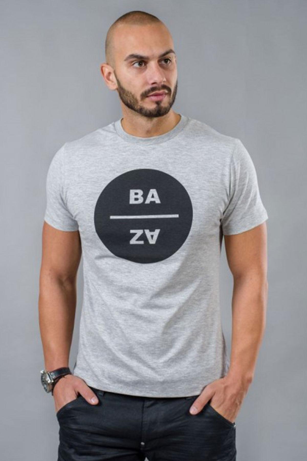 Сива мъжка тениска / BAZA