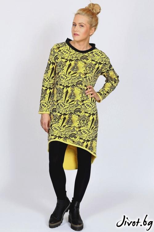 Дизайнерска рокля с издължена задна част / FABRA MODA STUDIO