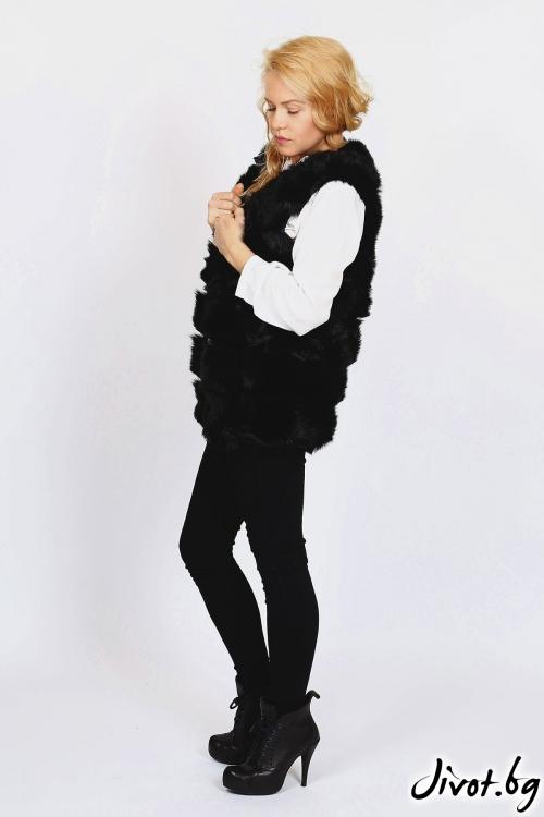 Елегантен и стилен черен елек