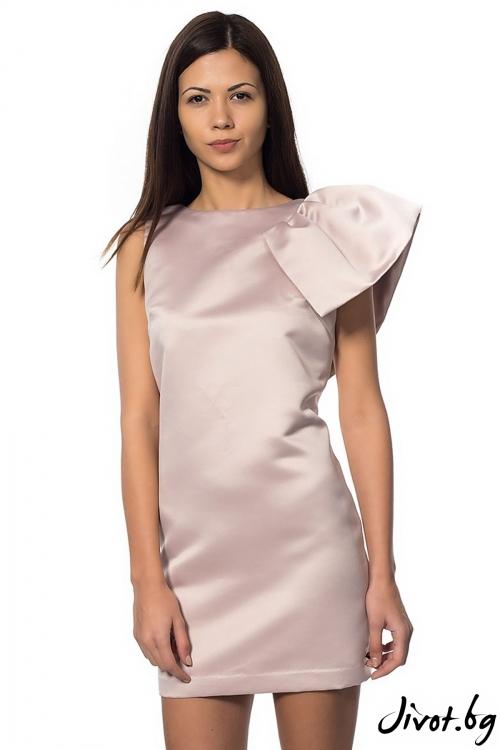 Шикозна дамска рокля Pink flower / Décollage
