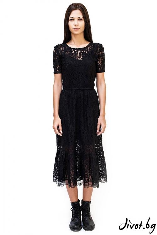 Деликатна дантелена рокля Lace Decollage / Décollage