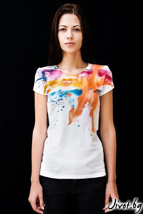 Дамска Тениска My rainbow / Décollage